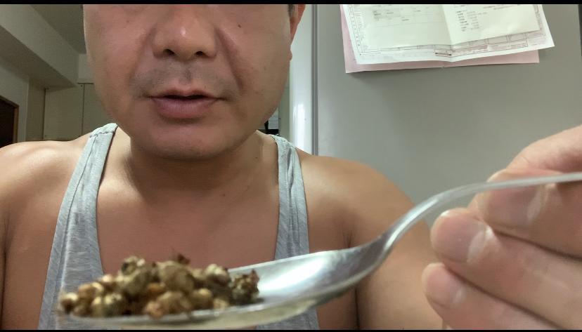 昆虫食 女王ツムギアリをガッサを食う